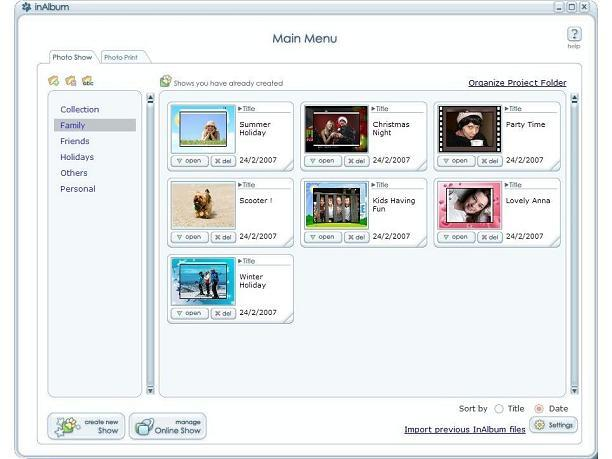 digital photo album software