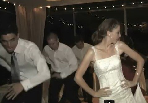 """bride and groom dance"""