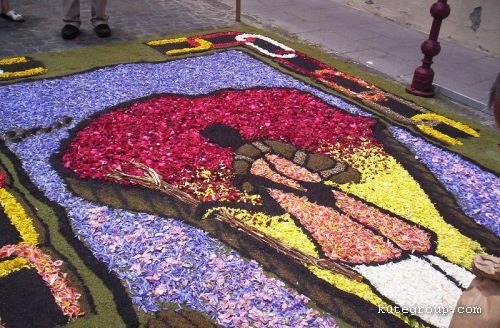 flowers carpet
