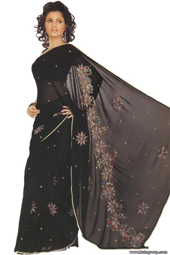 black-saree-designs- (4)
