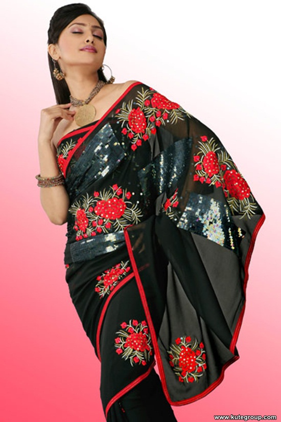 black-saree-designs- (9)