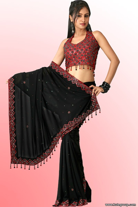 black-saree-designs- (10)