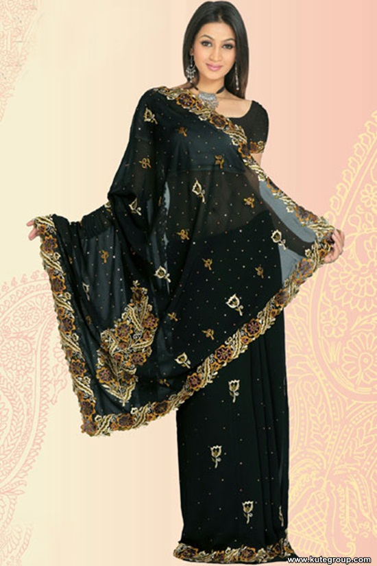 black-saree-designs- (11)