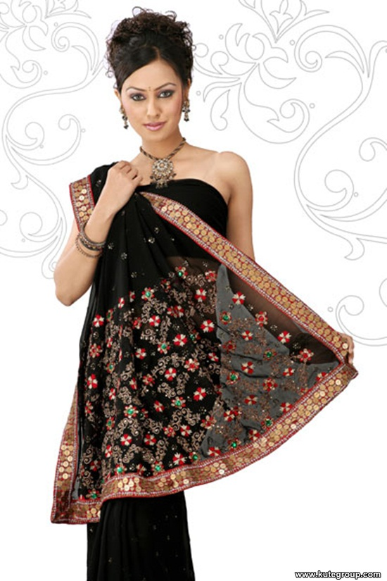 black-saree-designs- (13)