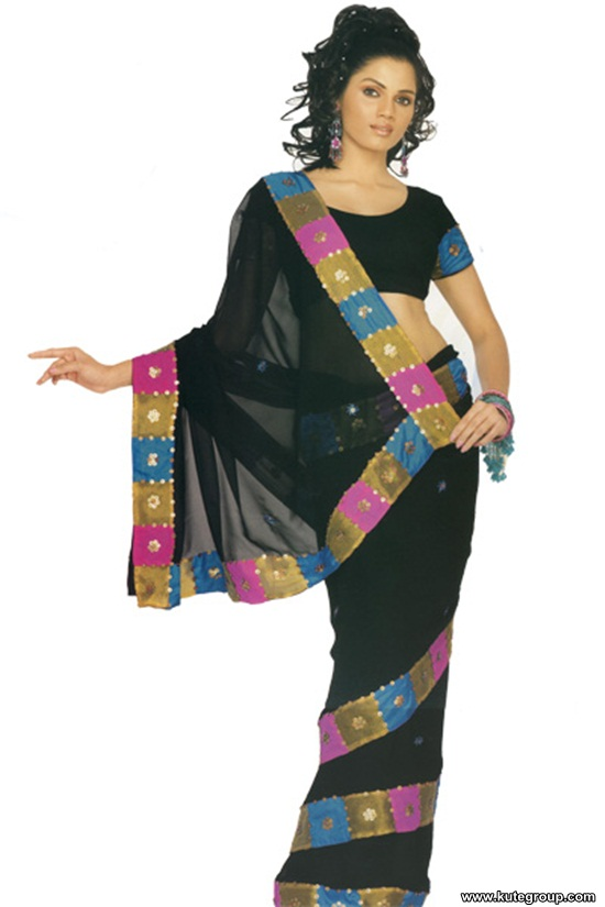 black-saree-designs- (7)