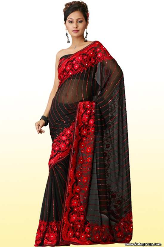 black-saree-designs- (15)