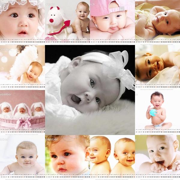 Baby Desktop Calendar 2011