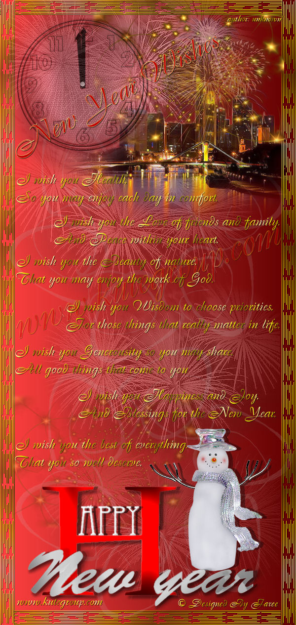 new years greeting cards