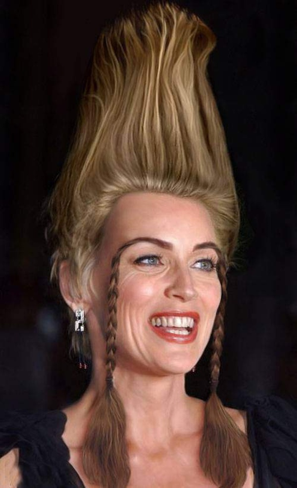 funny hair styles of celebrities